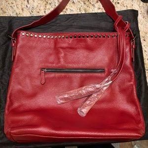 Laggo Reed red hobo bag